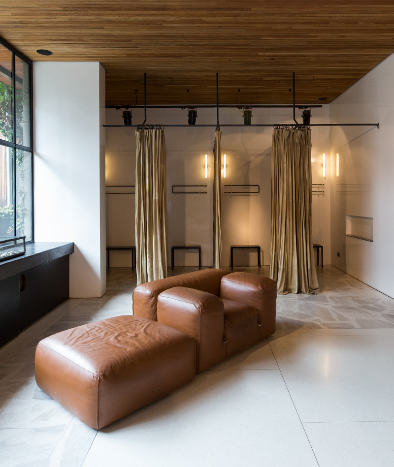 Luxury changerooms at the South Yarra boutique store