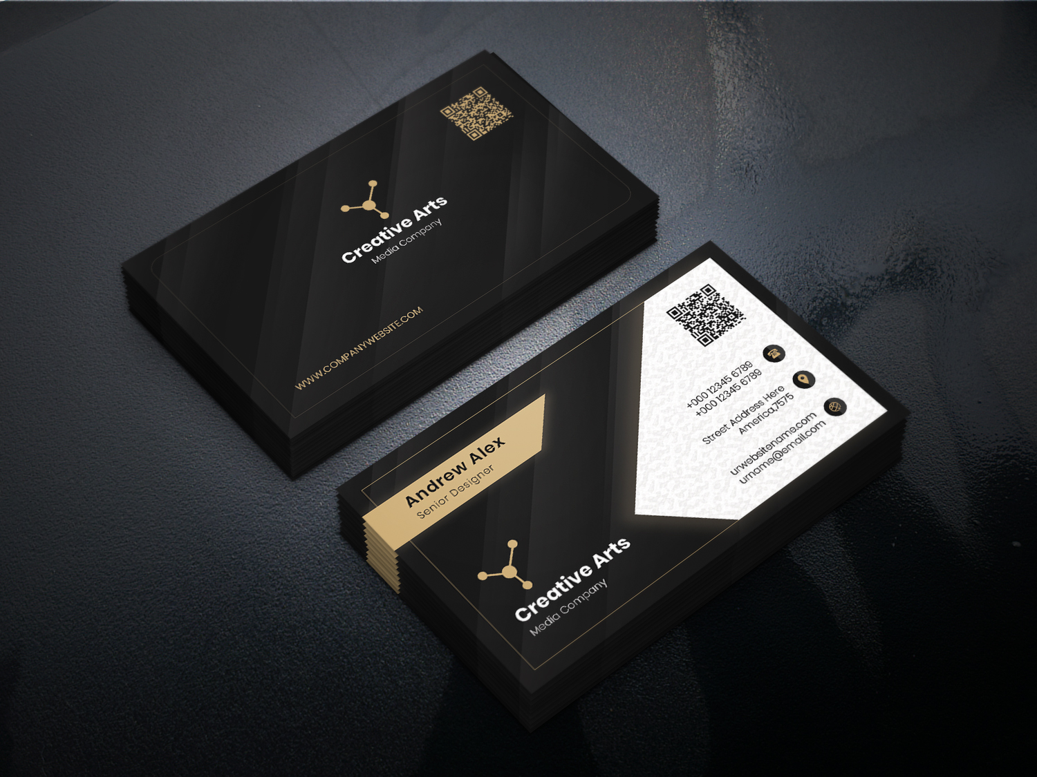 Personnel Business Card PSD Template