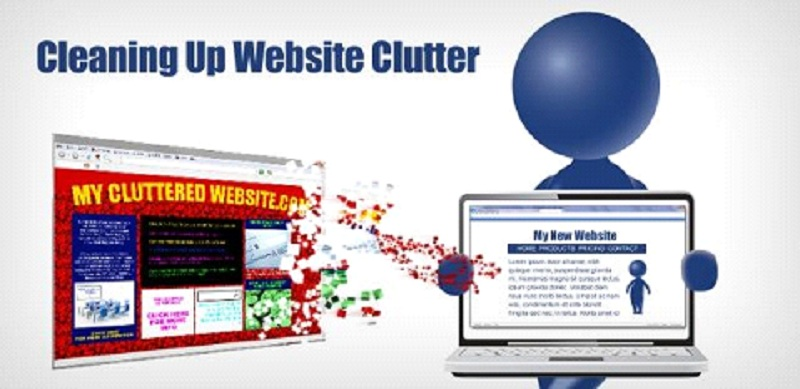 Cleaning Up Website Clutter