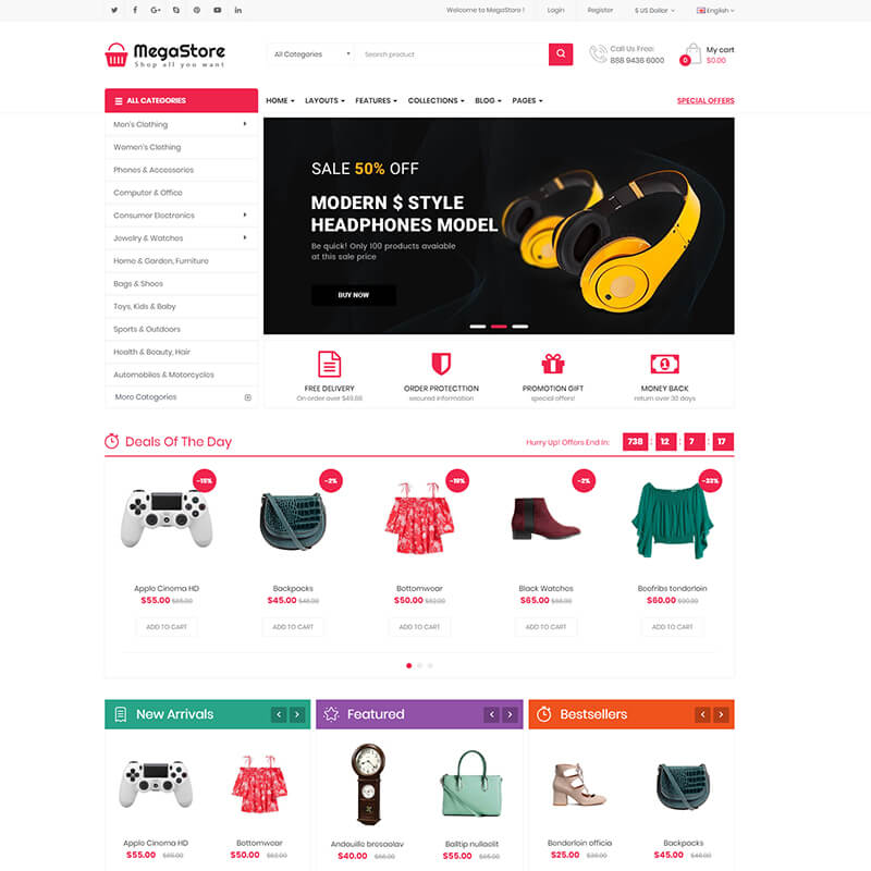 Free or Premium OpenCart Themes