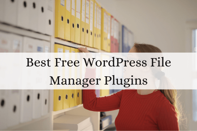8 Best Free WordPress File Manager Plugins