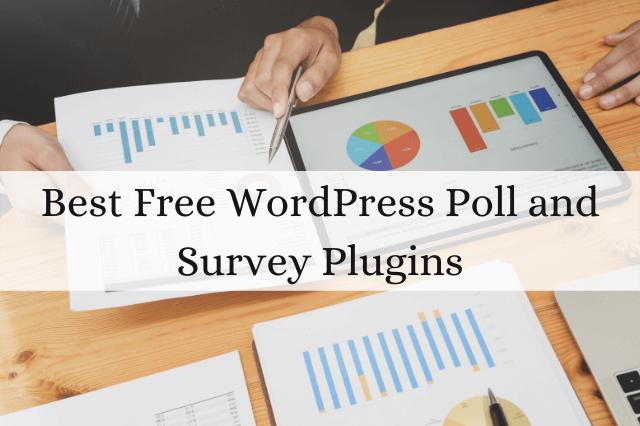 5 Best Free WordPress Poll Plugins