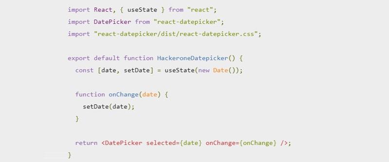 Hackerone's React Date Picker