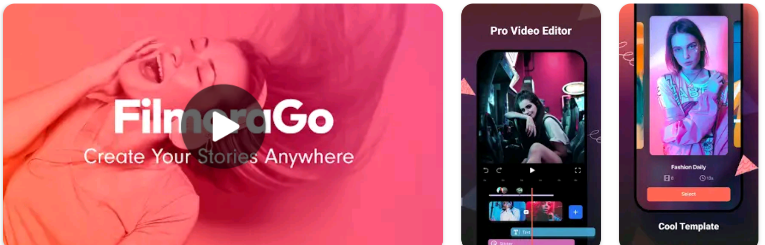 Filmora Go Best Free Video Editing Apps for Android