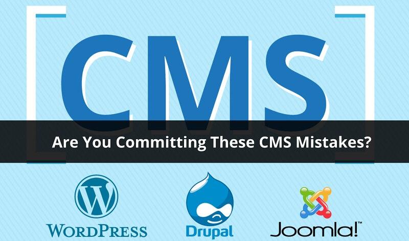 CMS Mistakes