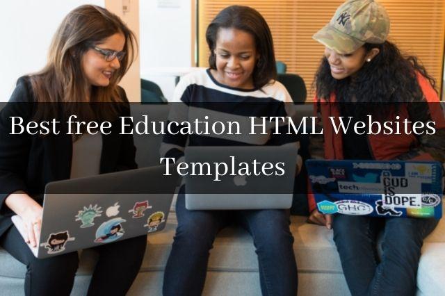 Best free Education HTML Websites Templates