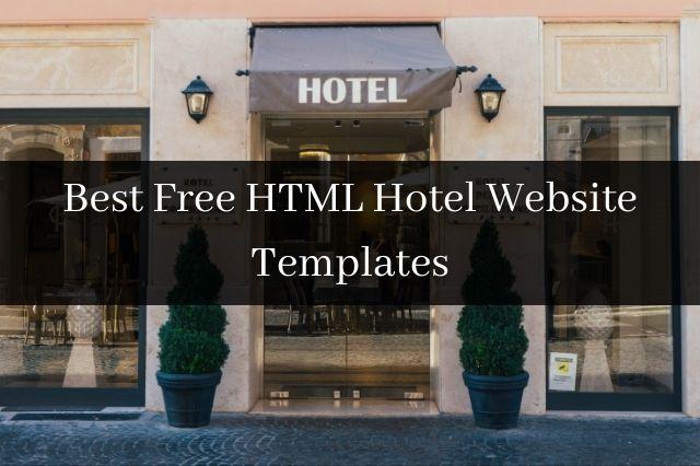 Best Free HTML Hotel Website Templates