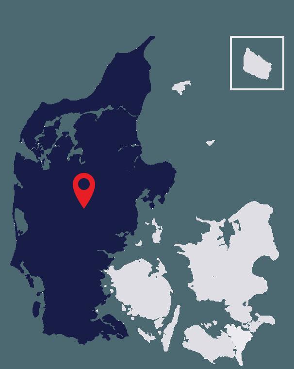 Duckfeet USA Jylland Map