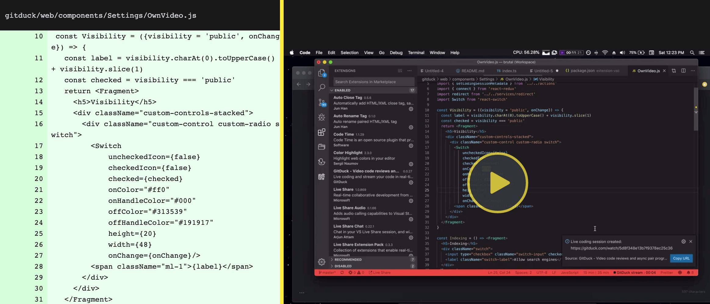 Live coding a live coding platform