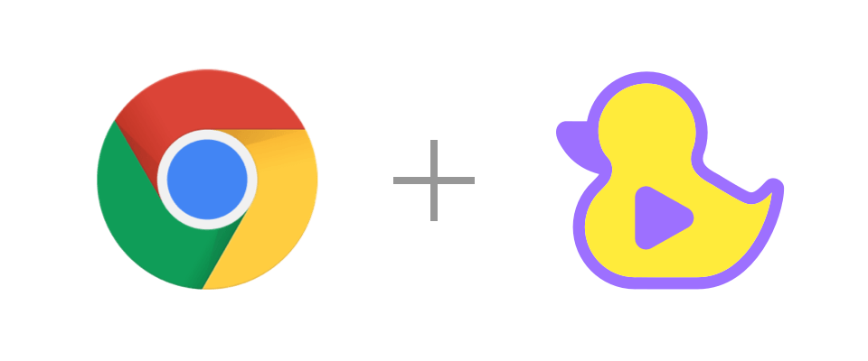 Chrome and GitDuck logos