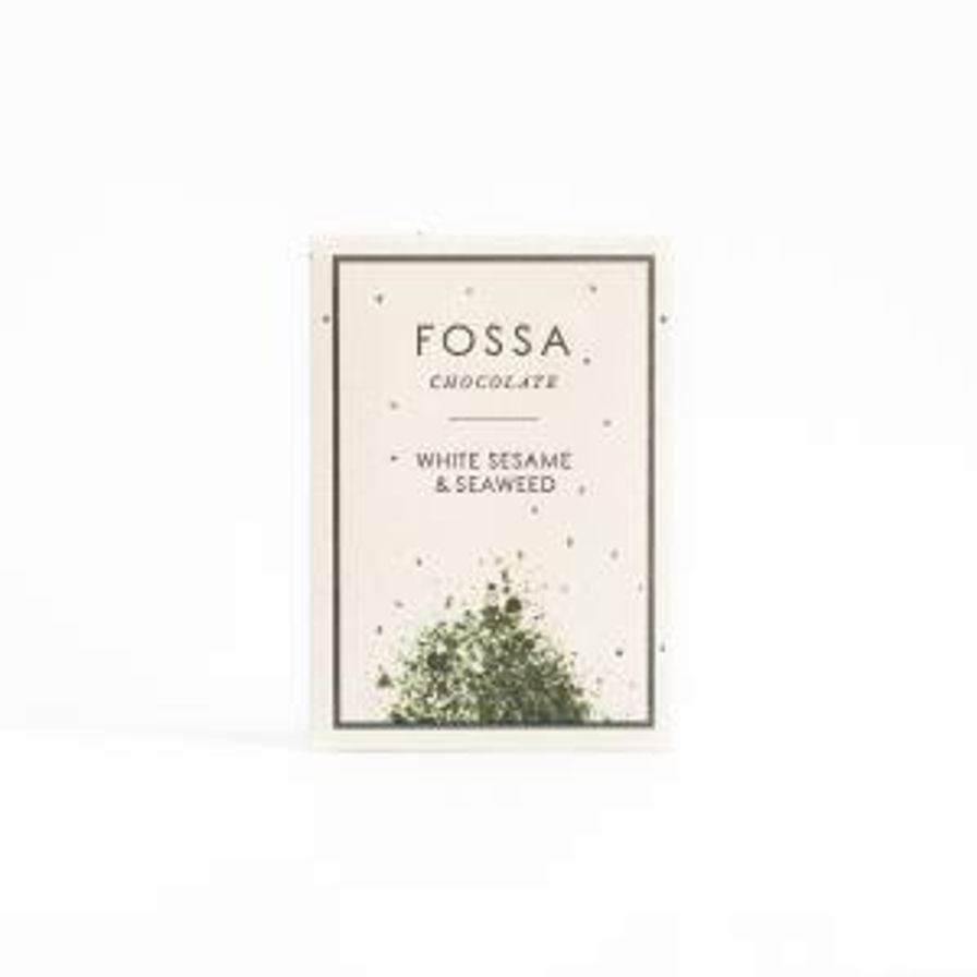 Fossa White Sesame & Seaweed Chocolate