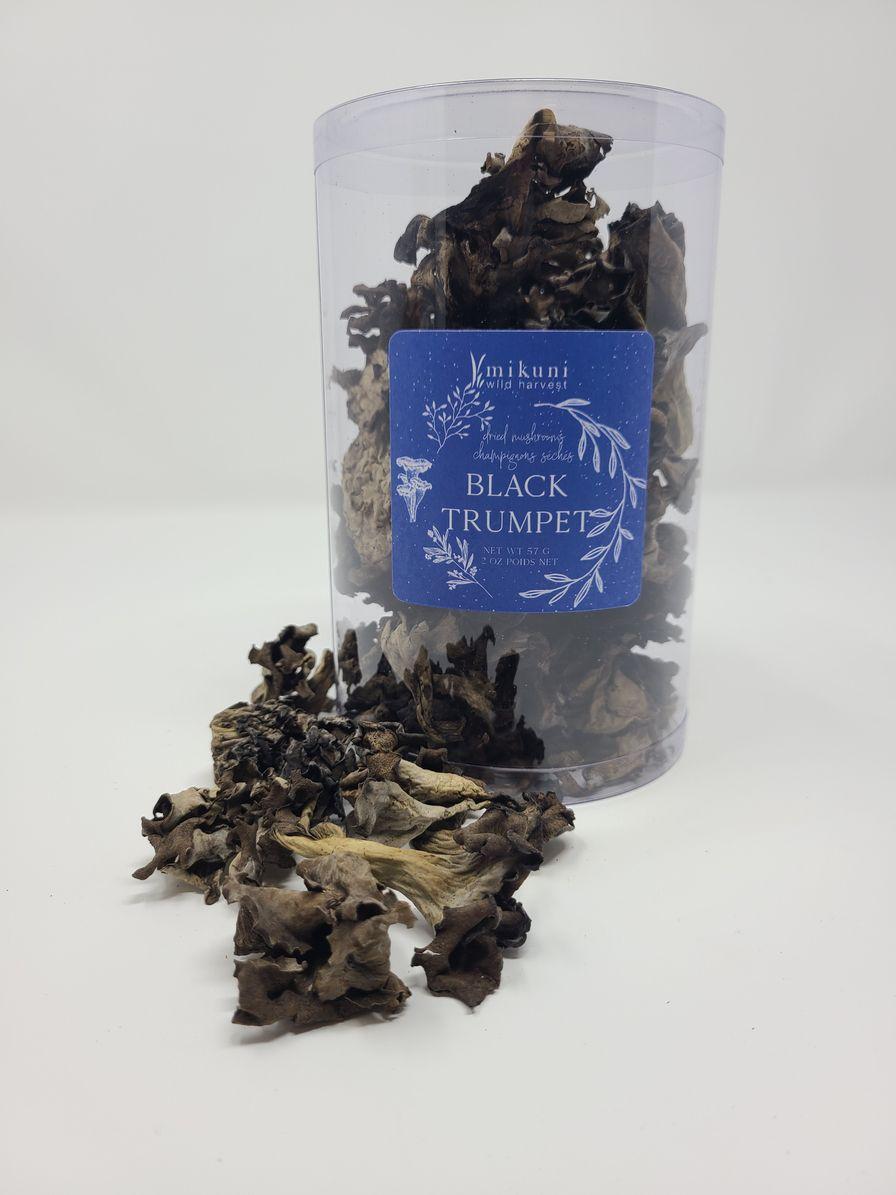Dried Wild Black Trumpet Mushroom