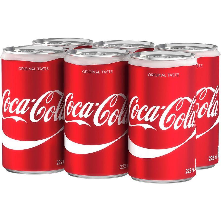 Coca Cola - 6 x 222g