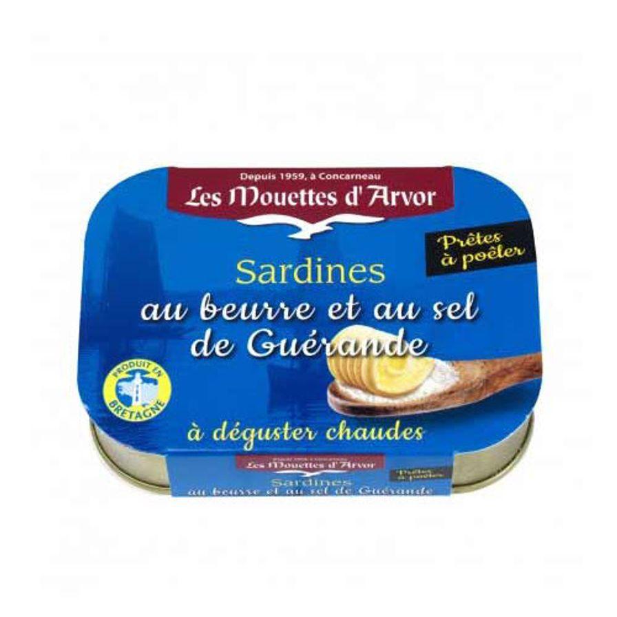 Sardines with Butter & Sea Salt (Guerande)