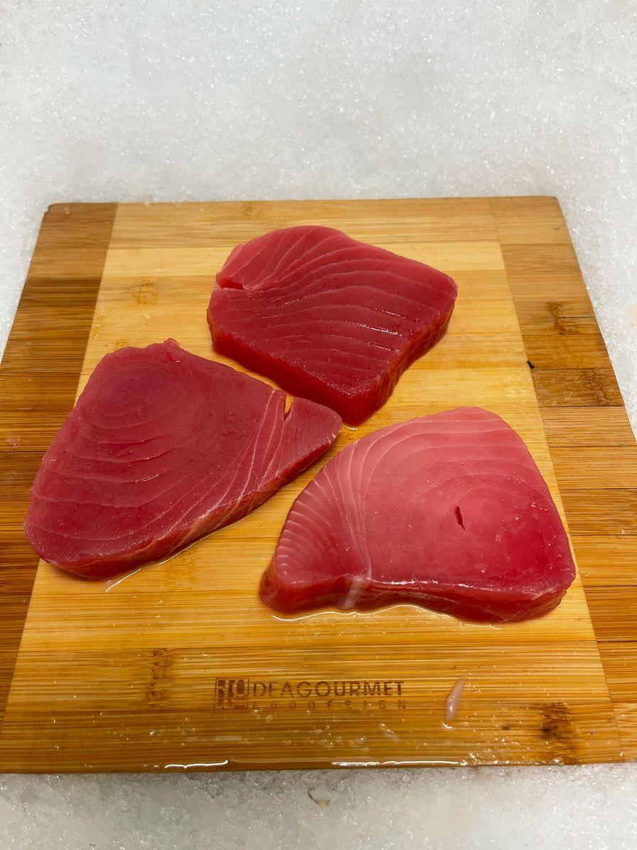 Ahi Tuna Steaks          $8.99/100 Grams