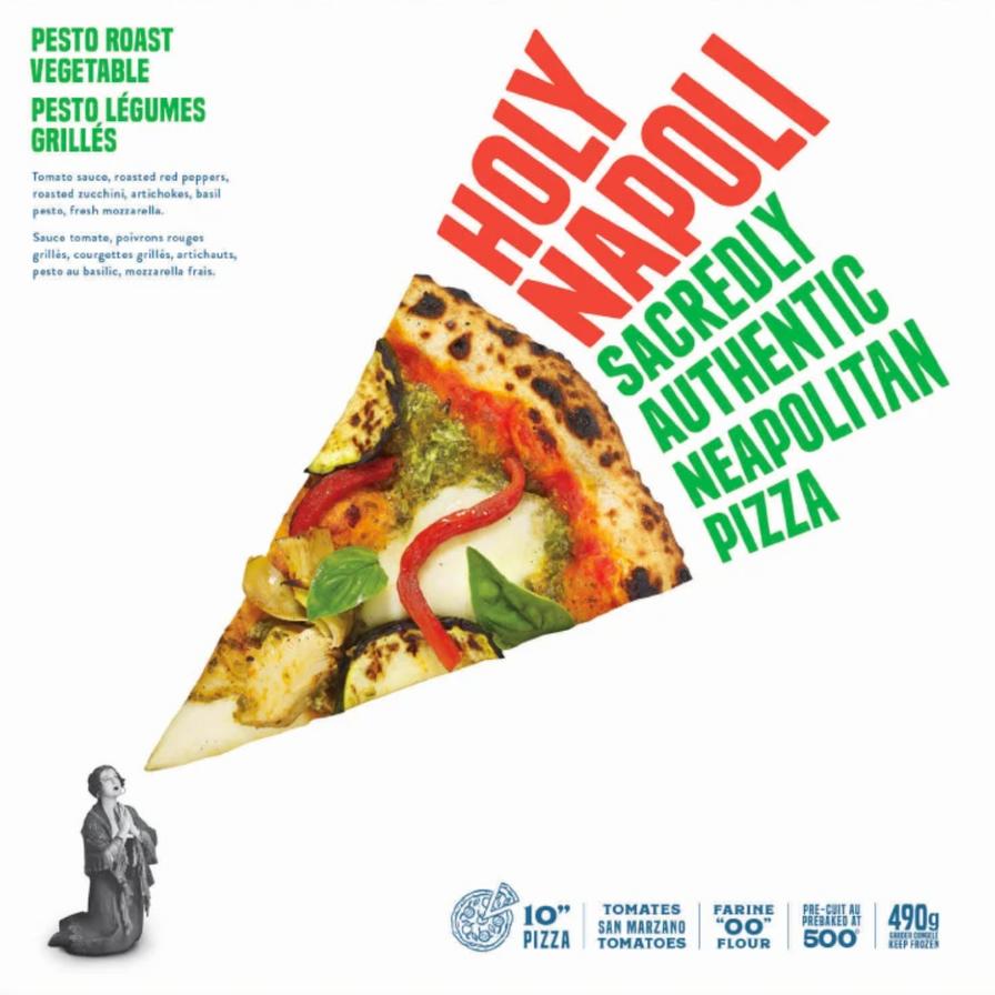 Holy Napoli Pesto Roasted Vegetable Pizza