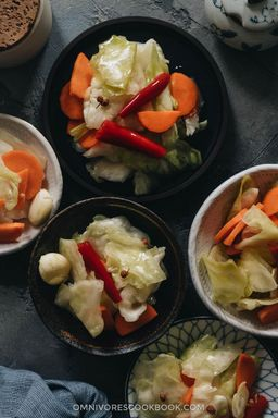 Spicy Asian Pickled Vegetables