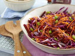 Sesame Red Cabbage Slaw with Edamame