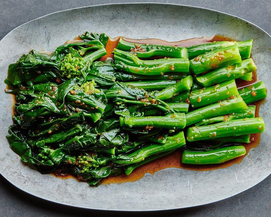 Chinese Broccoli with Shiitake Sauce