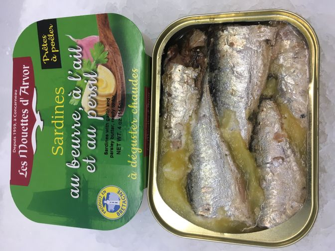 Les Mouettes d'Arvor - Sardines w Butter & Garlic (Persillade)