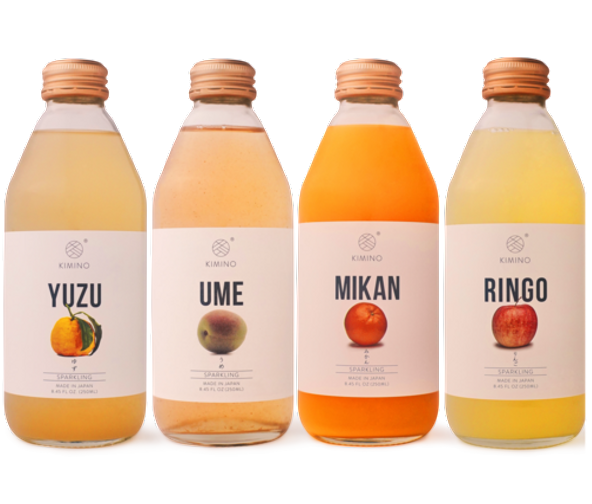 Mikan, Kimino Sparkling Juice Bottles