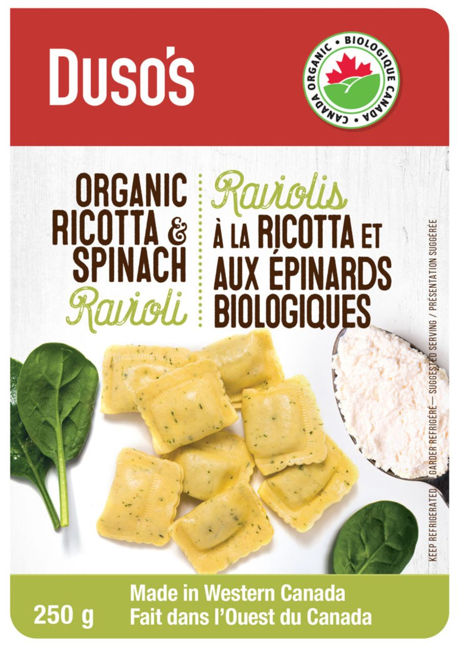 Dusos Spinach & Ricotta Ravioli 250 g