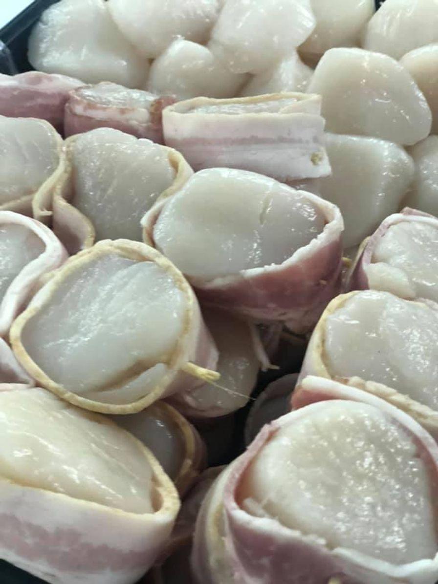 Frozen Bacon Wrapped Scallops