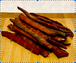 Wild Salmon Jerky $10.99/100 Grams