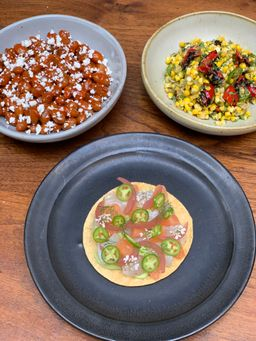 Baja Kanpachi Crudo Tostada Dinner!