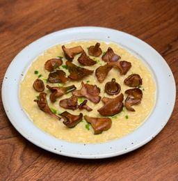 Chanterelle & Corn Risotto (serves 2)