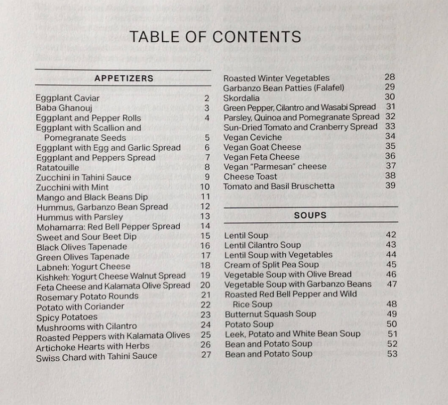 Table of contents inside a book, Image by Dustin Moris Gorski