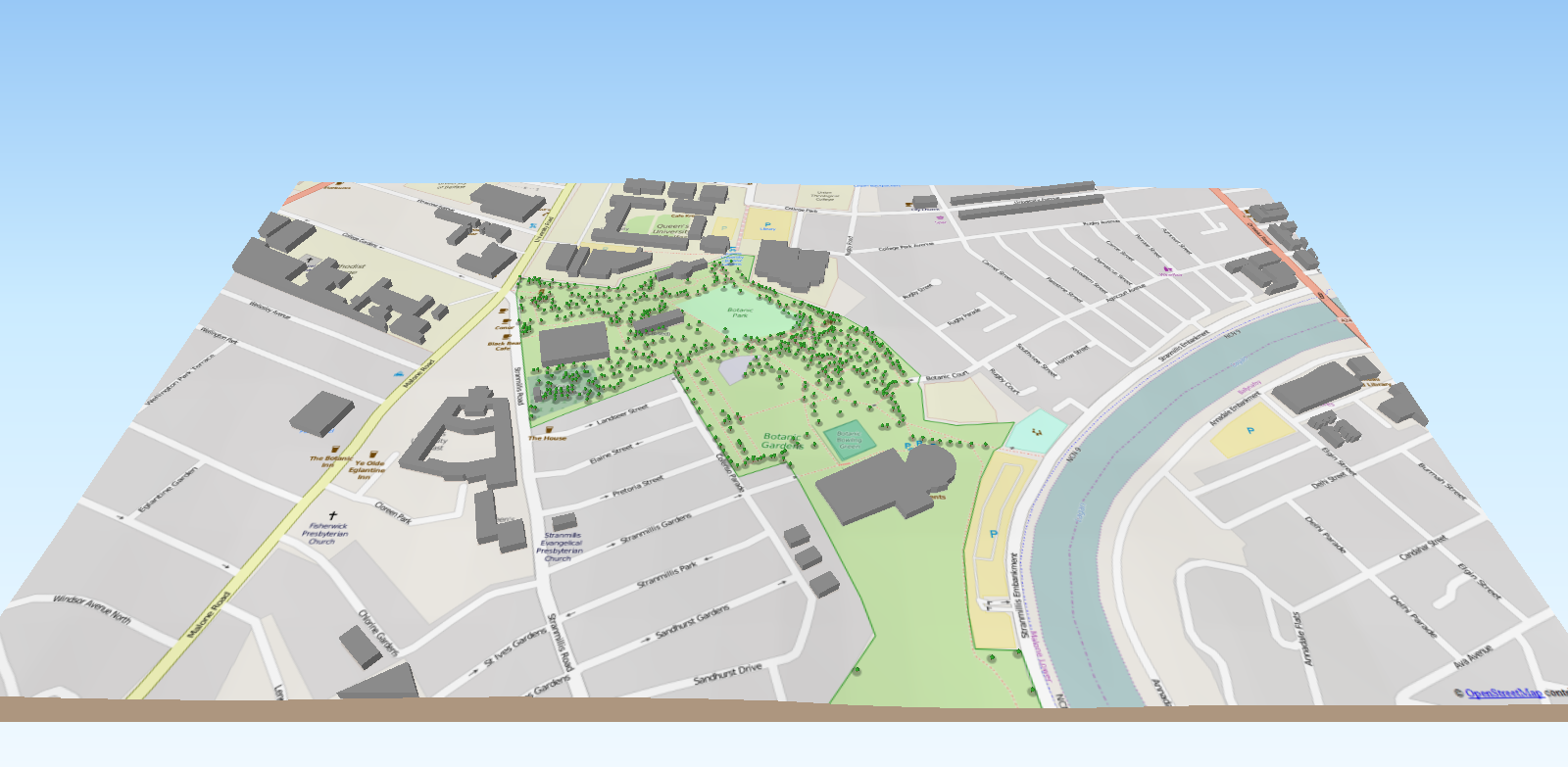 Botanic Gardens 3D Tree Model