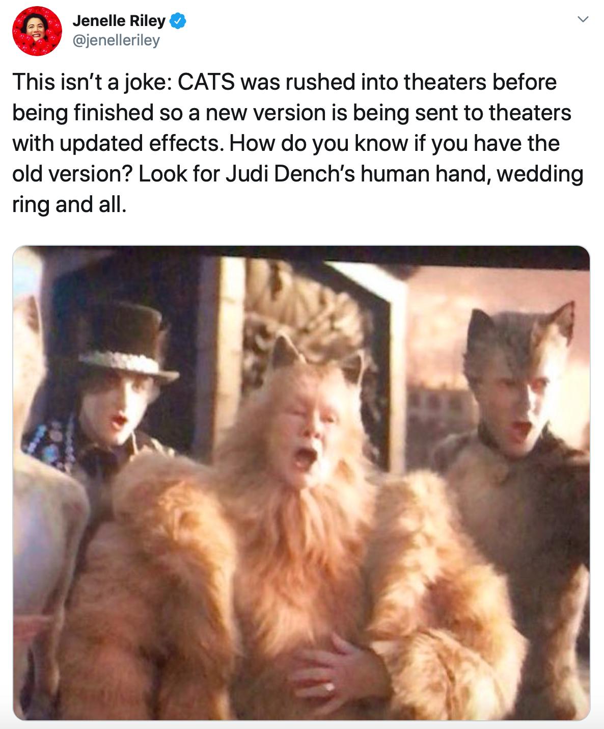 The \u0027Cats\u0027 Movie Has Some Embarrassing CGI Mistakes