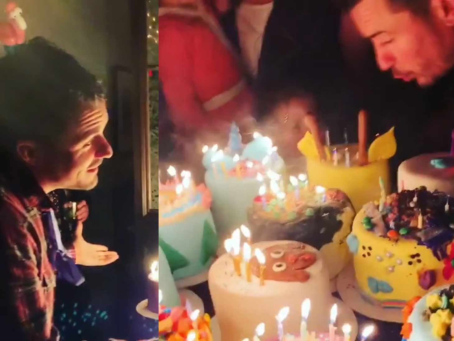 Enjoyable Orlando Bloom Gets Cakes On Cakes For Birthday Celebration Personalised Birthday Cards Veneteletsinfo
