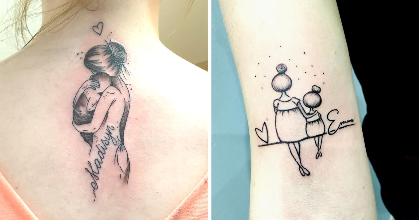 Parents Are Getting Creative Tattoos With Their Kids Names For An Everlasting Keepsake