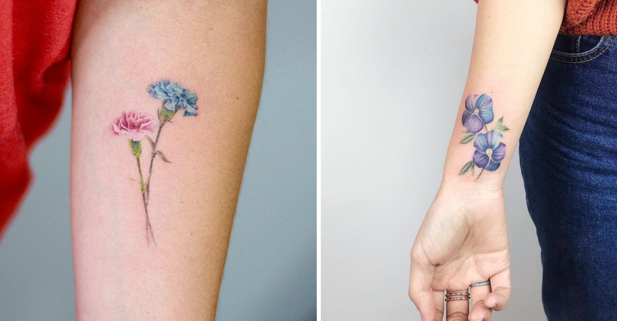 Birth Flower Tattoos Offer A Stunning Alternative To Zodiac Signs