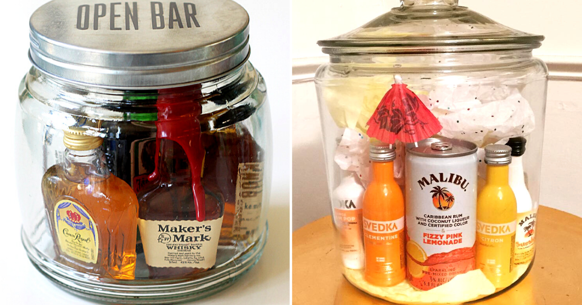 Bar In A Jar Mason Jar Gifts Are Perfect For People Who Miss The Bar