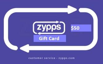 Zypps $50 Gift Card (Zypps_50)