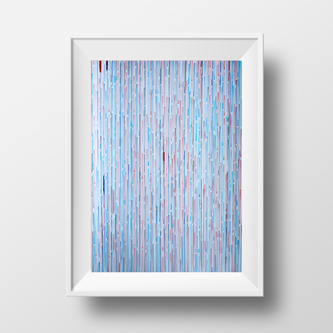 Блакитна мрія, 2020, чорнило на папері, 45*32 см