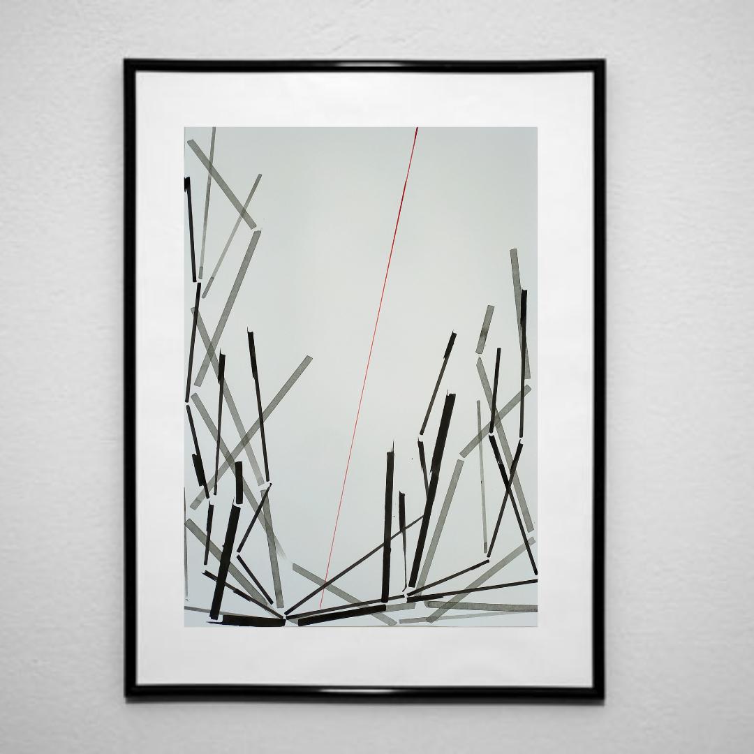 Ілюзія монументальності-2, 2020, чорнило на папері, 45*32 см