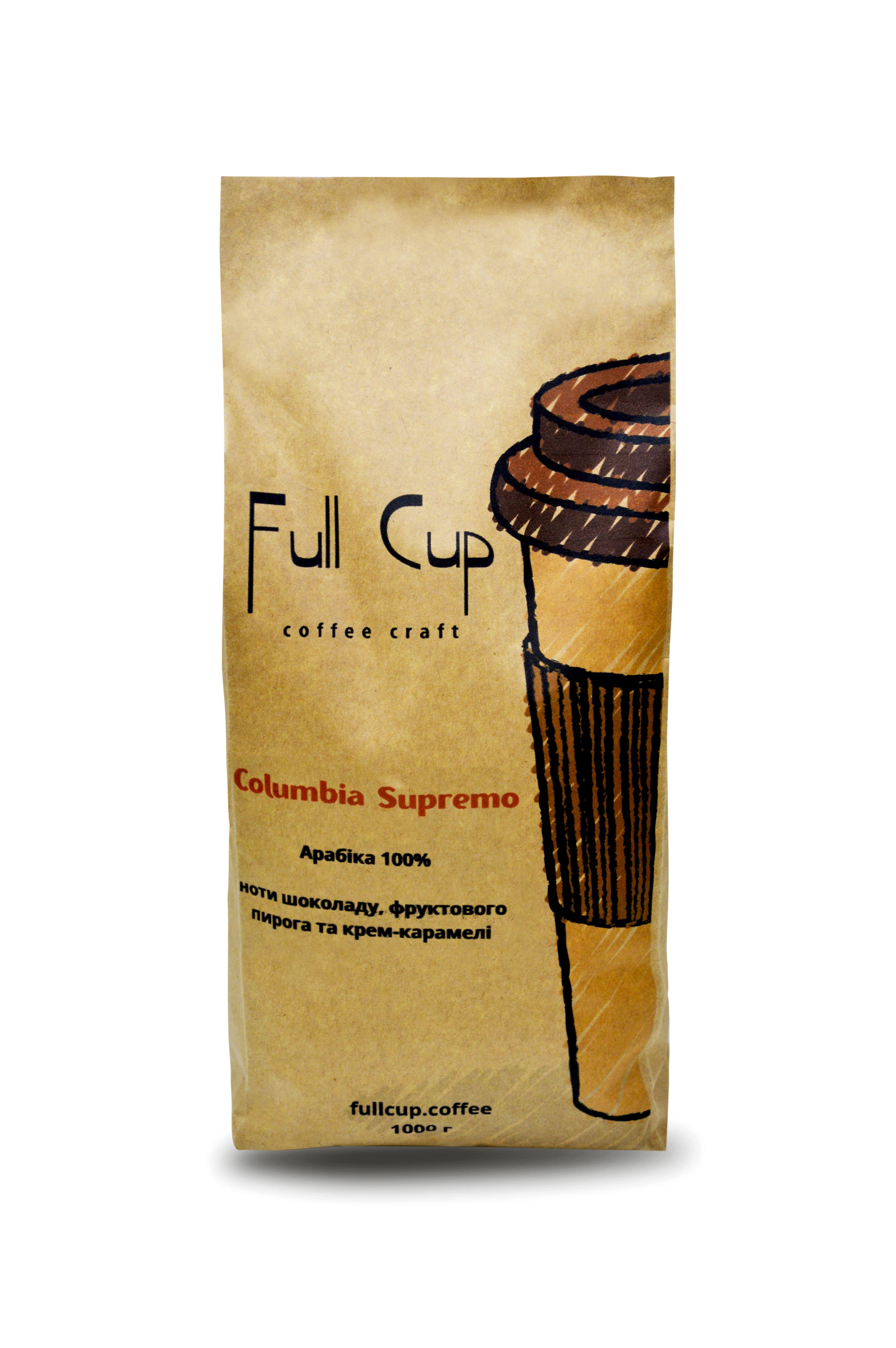 Арабика Columbia Supremo Huila 1000 гр Сладкий кофе с нотками молочного шоколада, крем-карамели и...