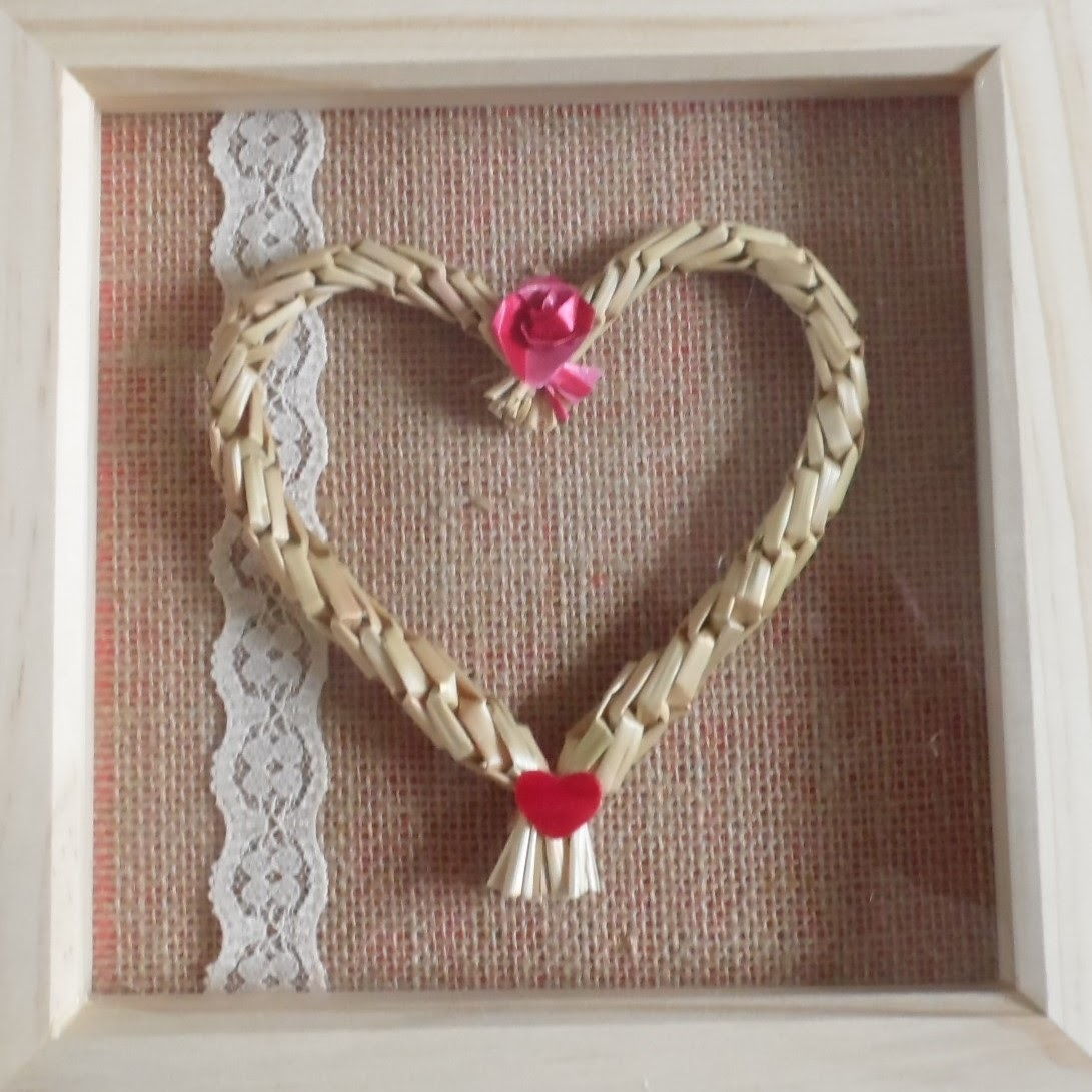 Vintage style framed heart