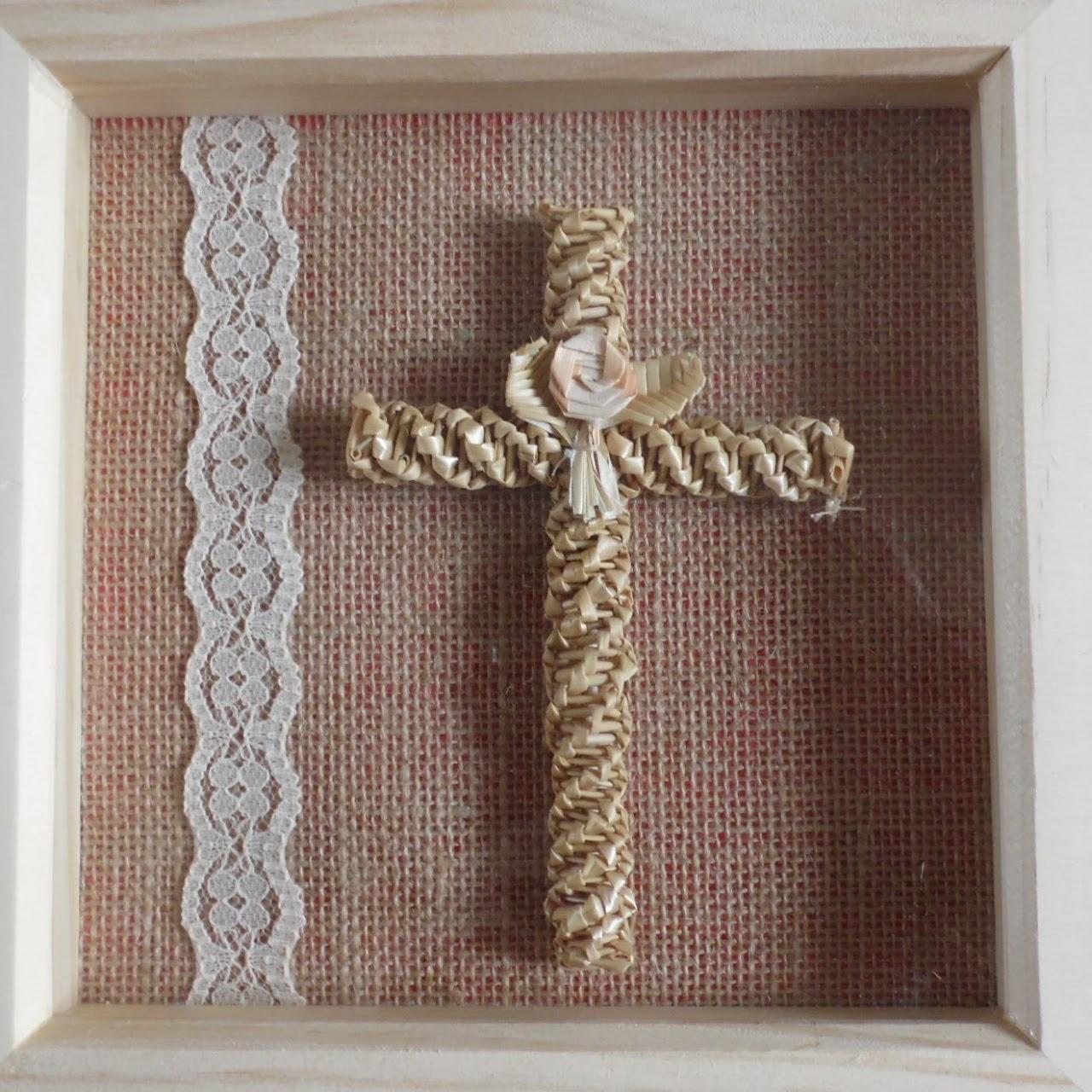 Vintage style framed cross