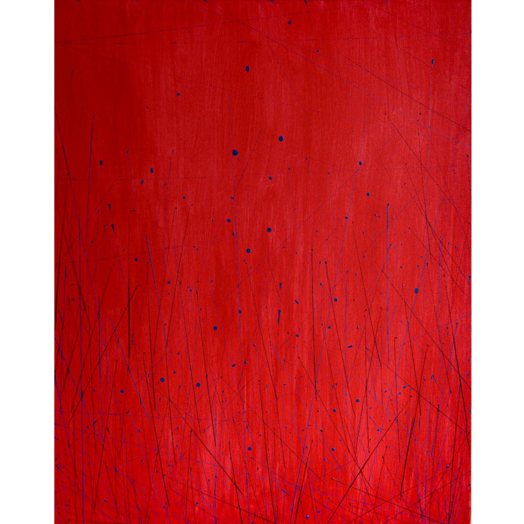 Червона, 2020, Акрил на полотні, 100*80 см