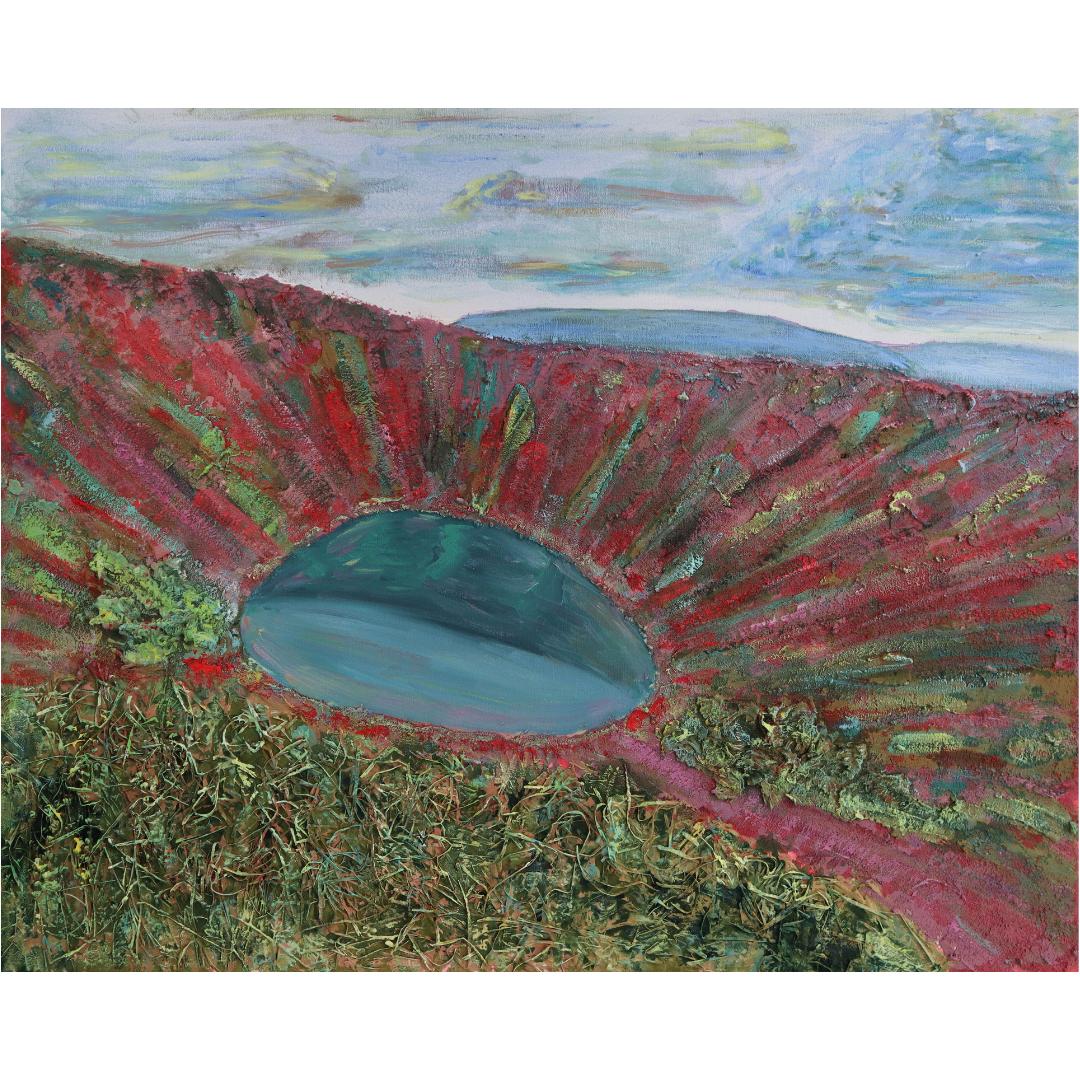 Вулкан.Керід, 2019, змішана техніка, полотно, 80*100 см