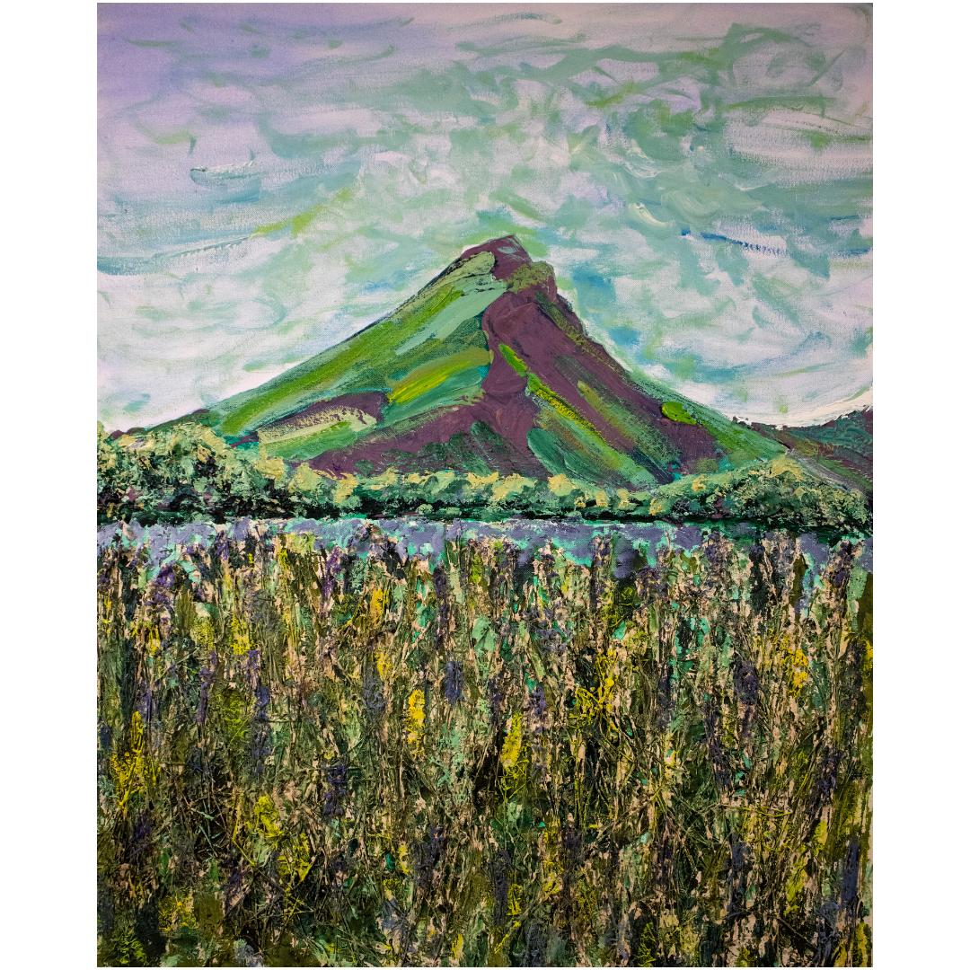 Гора, 2019, змішана техніка, полотно,100*80 см