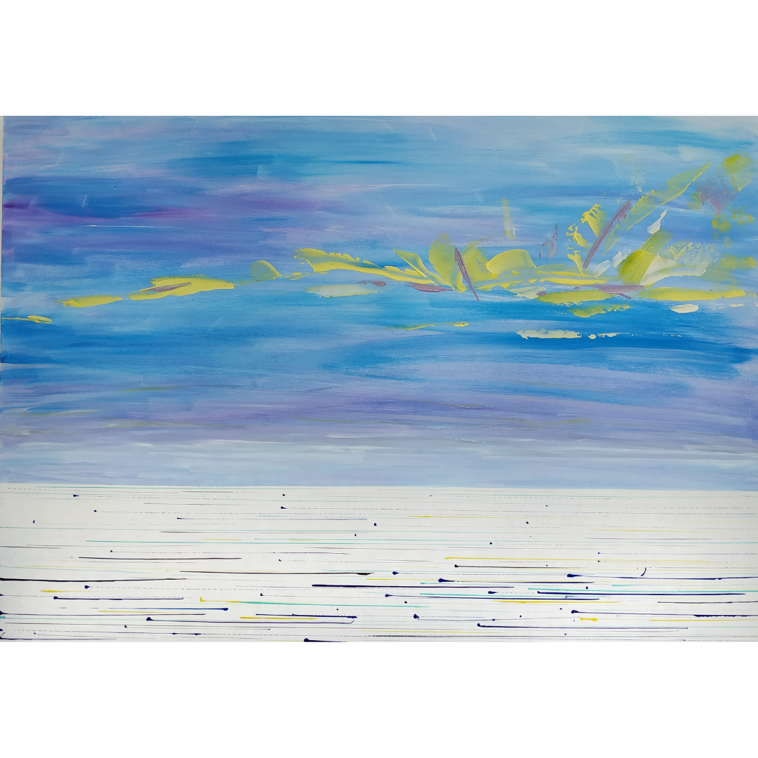 Where does the Dnieper river flow?, 2020, Acrylic on canvas, 70*100 cm