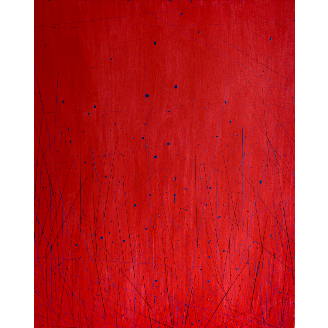 Red, 2020, Acrylic on canvas, 100*80 cm
