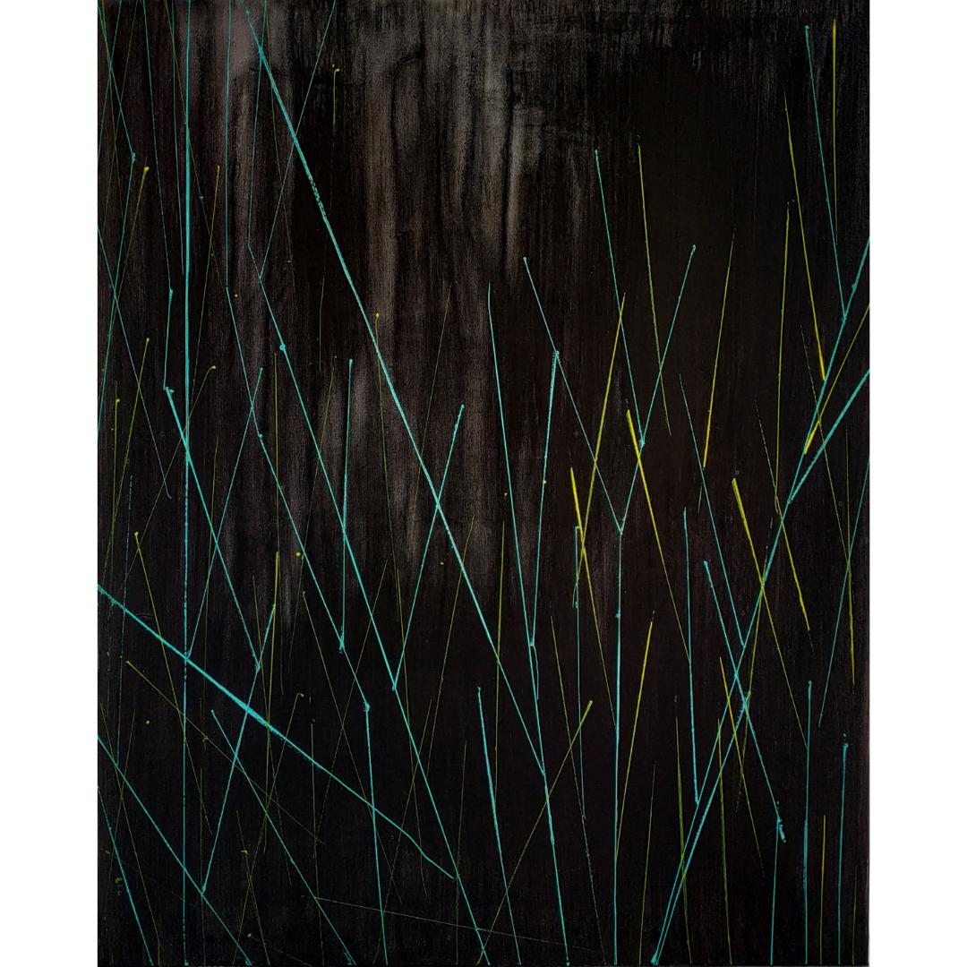 Black, 2020, Acrylic on canvas, 100*80 cm