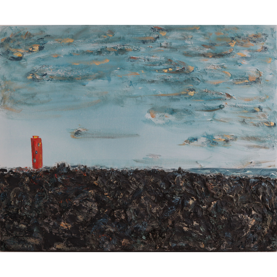 The lighthouse (small), 2019, Mixed media, canvas, 65*80 cm